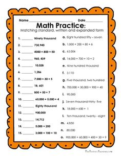 FREE Reading and Writing Numbers in Expanded Form, Standard Form and Written Form - 8 activities, 19 pages