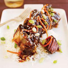 Slow-Cooker Korean Short Ribs #slowcooker #beef #easydinners