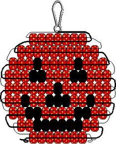 Jack o lantern pony bead pattern
