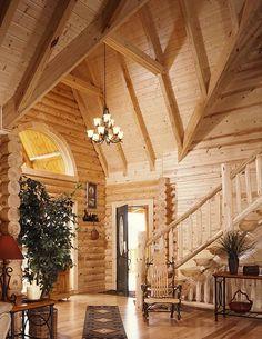Cabin Decor Ideas - Log Home | http://interior-design-513.blogspot.com