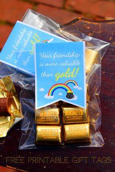 Printable St. Patrick's Day Friendship Gift Tags #stpatricksday #freeprintables
