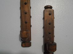 Solid Wood Handmade Vintage Wall Sconces by BaublesAbode on Etsy, $30.00