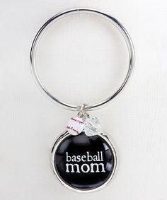 Baseball Mom Key Ring