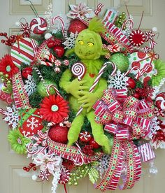 grinch #Christmas #wreath #seuss