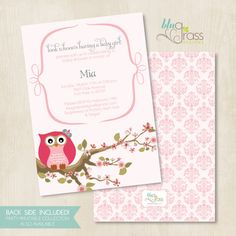 custom birthday party invitation baby shower by BluGrass on Etsy
