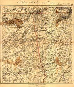 Alabama and Georgia Civil War Map