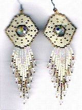 Fairy God Mother Earrings Pattern by Charlotte Holley - Beaded Legends by Chalaedra at Bead-Patterns.com