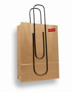 Staples paper bag design