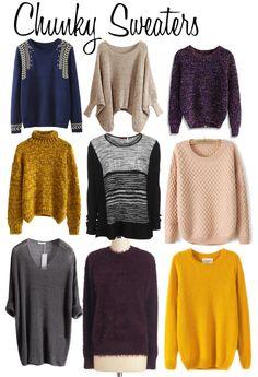 Chunky Sweaters...