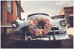 vintage wedding transportation