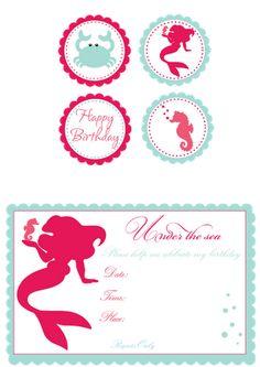 little mermaid birthday parti, mermaid parti, bday, child parti, theme parties, mermaid babi, parti idea, crab, kid