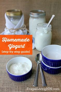 Homemade yogurt recipe {a step-by-step guide} It's not as difficult as you may think.
