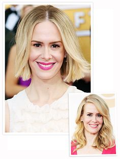 Sarah Paulson Debuts a Chic Bob on the SAG Red Carpet #InStyle