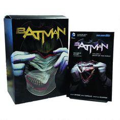 #Batman Vol 03: Death of the Family Hardcover Graphic Novel and Joker Mask Set from @DC Comics - Ooo-hoo-hoo, ah-ha-ha, he-he-he! $39.95