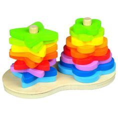 Amazon.com: Hape Double Rainbow Stacker: Toys & Games
