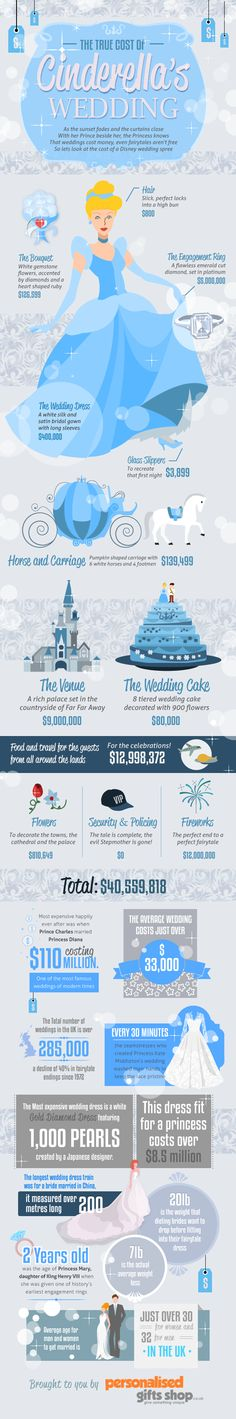 Cinderella's fairy tail wedding costs Infographic