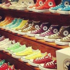 Converse shoes  Closet of your dreams! My converse are my favs.... Can't live without them!
