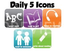 Daily 5 App Icons ... can be used to help with the order of the Daily 5. You could use them on a bookmark, a name tag, or a lanyard in different orders. Each child can pick a bookmark for the day and it already has to order to it. These were designed to look like iPod apps so you could even make fake iPods that tell them the order for the day!