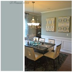 Coastal #color works well in the @Lenna Rivera dining room
