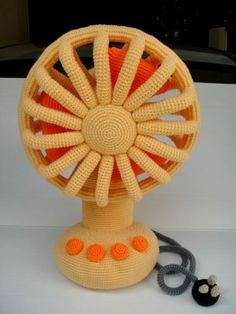 Crocheted fan...
