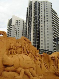 Bug's Life sand sculpture 3