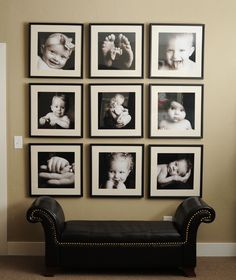 I need to do this...a wall of Grandbaby Love!