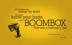 boombox is not a toy.