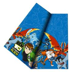 Ben 10 ultimate alien tablecover measuring approximately 120cm x 180cm. Plastic tablecover which has a dark blue background, an array of aliens and Ben 10 at the front. Perfect for childrens parties because it can be wiped down and used again. Pack contains 1 x tablecover.