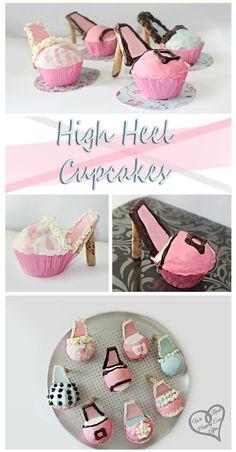 High Heel Cupcakes! {Tutorial}