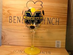 Personalized Hand Painted Michigan Wine Glass with polka dots on Etsy, $23.95