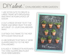 Chalkboard paint is so versatile! We love this DIY Chalkboard Herb Garden by master crafter Amber Kemp-Gerstel. || @Damask Love