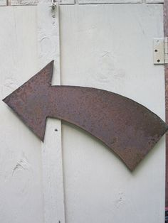Metal Arrow Wall Art Pointing Left by theshack on Etsy, $20.00