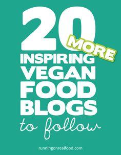 20 Inspriring Vegan Food Blogs to Follow - Part 2! #vegan #veganblogs #veganrecipes