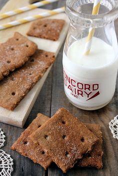 Homemade cinnamon graham crackers!