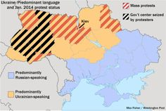 The conflict in Ukraine explained by a map