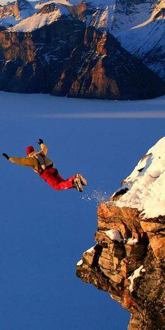 Base jumping!