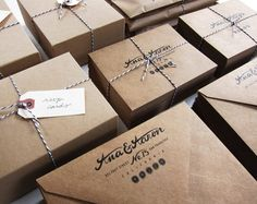 Kraft paper envelopes and twine