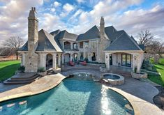 dream big, castl, design homes, pool, fairytale house