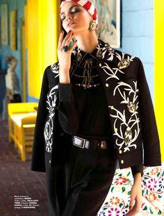 Barbara Fialho by Danny Cardozo for Elle Mexico January 2013