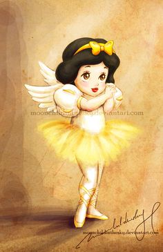 Dancing angel: Snow White by *moonchildinthesky