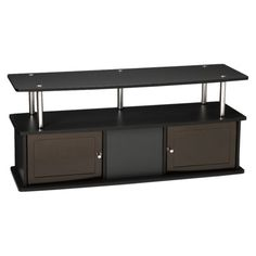 TV Entertainment Stand with 3 Cabinets - Black $67