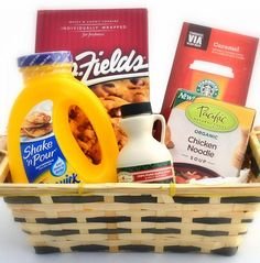 food gifts, gourmet food, gift baskets for women, get well basket for women, after surgery kids gift basket, brunch, cancer gifts for women, comfort foods, chemotherapy gifts