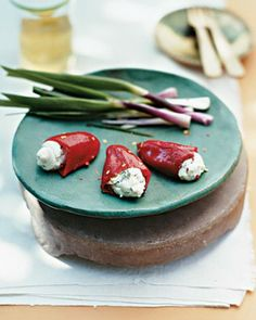 "See the ""Stuffed Piquillo Peppers with Goat Cheese"" in our Tapas Recipes gallery"