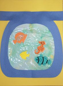 Ziplock bag crafts on pinterest fish homemade ice cream for Fish bowl craft