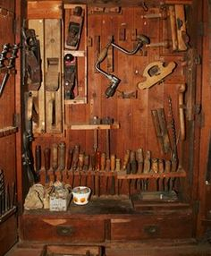 Antique woodworking tools.