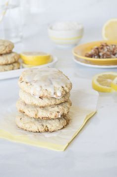 Toasted Coconut Lemon Scones. #recipes