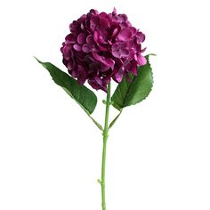 "Hydrangea Stem in Plum Purple - 17"" Tall $3.29"