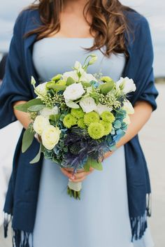 green and blue bouquet // photo by Christina Szczupak