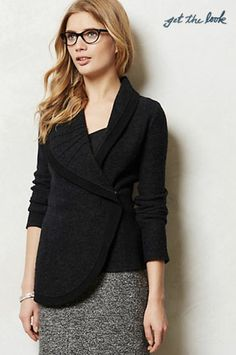 Todays Coveted Working Look: Anthropologie Curve Necked Sweater