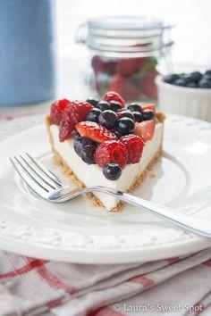 Berry Cream Pie ~ Easy, No Bake! #easy #summer #recipe